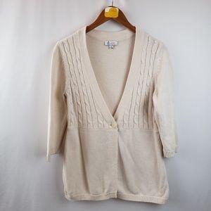 Denim & Company Cable Knit Cardigan Sweater Sz Sm